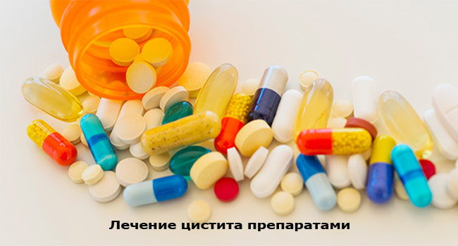 Лечение цистита препаратами
