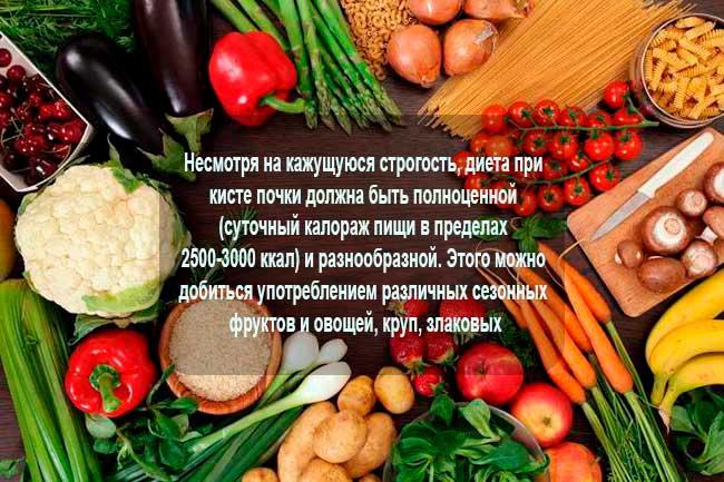 Особенности диеты при болезни почек