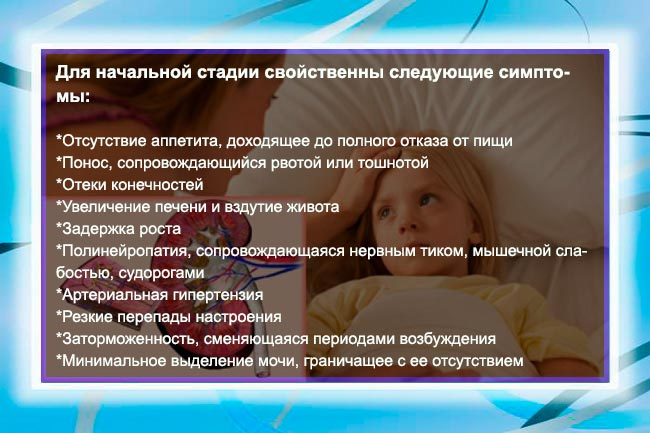 Симптомы патологии у детей