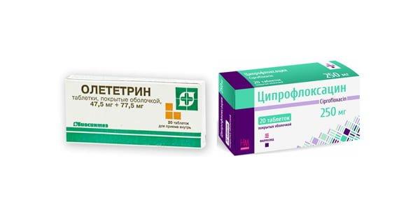Ципрофлоксацин, Олететрин